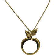 AVON magnifying glass Apple Necklace