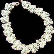 10K Gold vintage filigree Butterfly bracelet