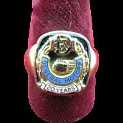Rare General Motors Electra Motors Diesel Train Ring gold and enamel