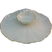 Lenox Creamy White Shell shaped Chip-n-Dip or Shrimp and dip