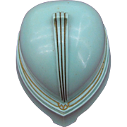 Old Celluliod blue Deco ring box