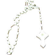 Stanhope Rosary Old plastic with very unique markings