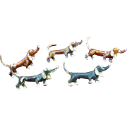 Dachshunds on parade pins
