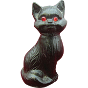Vintage Halloween Black Cat made out of Coal