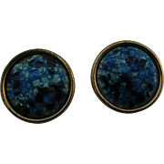Matisse Renoir Copper and blue enameled earrings