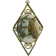 Hobe' Classic Horse brooch/pendent
