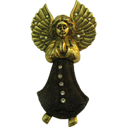 Large Christmas Angel brooch Stunning