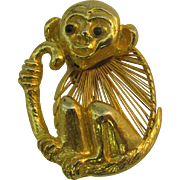 Cute little Monkey pin wire or Harp body