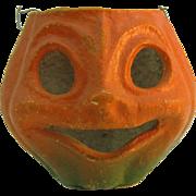 Pulp/Paper Mache Halloween Pumpkin face bucket/basket