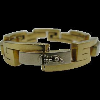 18k Gold Greek Key Bracelet Big Bold and Beautiful Man or Women's