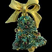 Mylu Christmas Bell pin book piece
