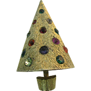 Book Piece Light up CoroCraft Christmas tree pin