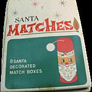 Vintage Santa Matches in original box set of 8