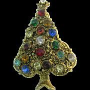Hollycraft Christmas tree pin Book Piece