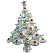 Gerry's Silver tone Christmas tree pin