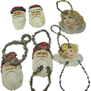 Die-cut Scrap and Tinsel Santas and Angels Christmas Ornament from the Victorian Era