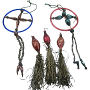 Early 1900's glass ornaments very unique