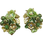 Beaujewels Beautiful Green clip on earrings
