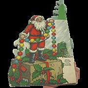 1920's Beistle honeycomb tree with Santa (LAST ONE)