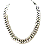 Napier Chain Necklace in silver tone
