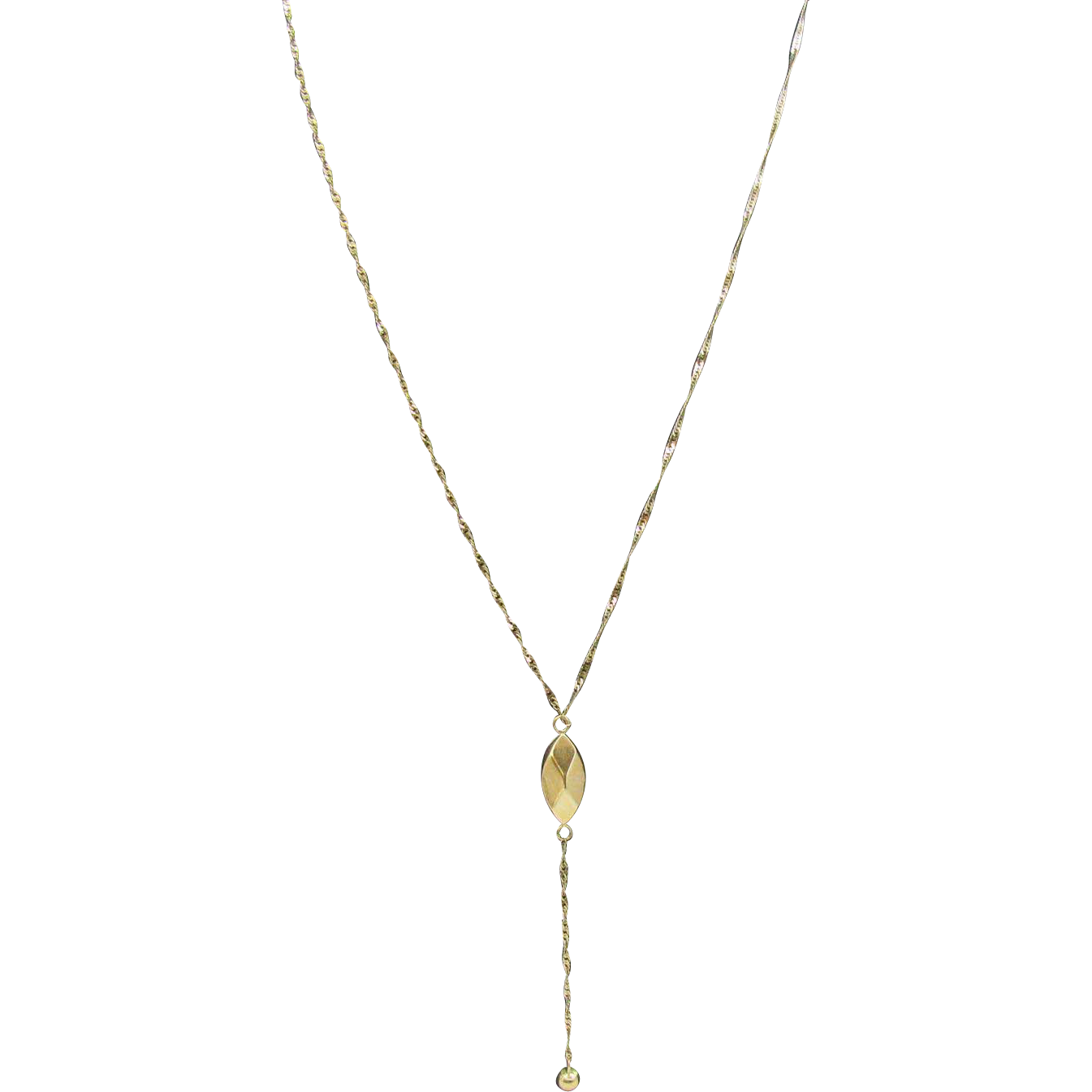 Beautiful 14k Gold Drop Faceted Y Necklace From Eye4jewels