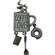 J.J Coffee Lovers Pin