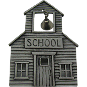 J.J School House pin with school bell