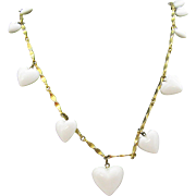 "32"" long gold tone Chain with Hearts Necklace"