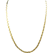 """Braided Gold Chain in White and Yellow Gold 18"""" Necklace"""