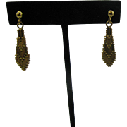Gold over sterling woven earrings Pierced