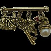 Cute Key to my heart pin
