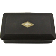 Very Cute Gutta Percha Stamp box or match safe Victorian