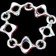 1960's Very Modern Sterling Bracelet Italy UNO A ERRE