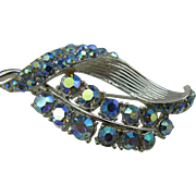 AB Blue Rhinestone free form pin