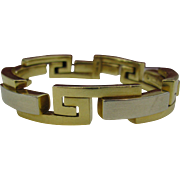 18k Gold Greek Key Bracelet Big Bold and Beautiful Man or Women's