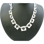 Rock Crystal Necklace Large rectangular crystals Amazing