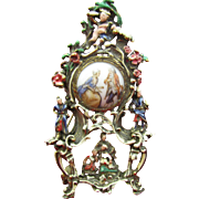 Unusual Enameled Watch Brooch converted to portrait