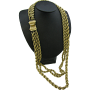 Vendome triple strand heavy chain necklace