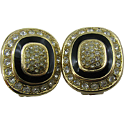 Grosse clip on earrings Lots of Bling