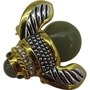 Joan Rivers Bubble Bee pin with Do IT Now on the back
