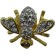 Joan Rivers bubble bee pin in gold tone and clear