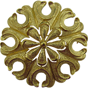 Trifari gold tone unique flower brooch 10 DOLLAR SPECIAL