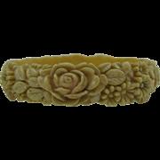 Old Celluloid flower bracelet