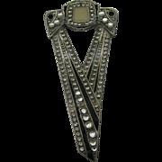 1980's Art Deco Revival pin large