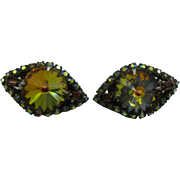 Topaz Rivoli and AB rhinestone earrings what Sparkle 10 DOLLAR SPECIAL