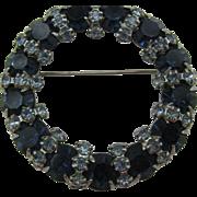 Vintage Warner dark blue and light blue wreath pin 10 DOLLAR SPECIAL