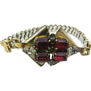 Expandable Art Deco bracelet in 1/20 12K gold filled Marked Quill