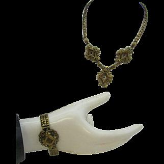 Machine age Necklace and Bracelet set