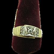 Men's 14K Plum gold and  Diamond ring