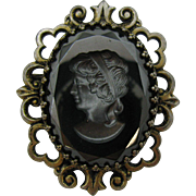 Hematite Cameo Pin/ Pendent A real beauty